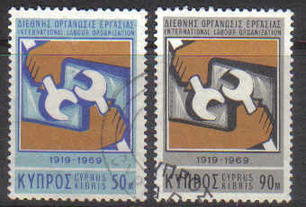 Cyprus Stamps SG 327-28 1969 I.L.O - USED (d671)