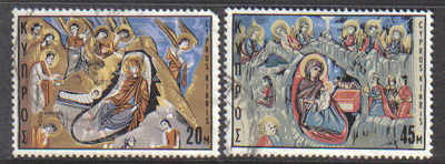Cyprus Stamps SG 340-41 1969 Christmas - USED (d665)