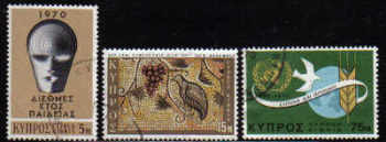 Cyprus Stamps SG 351-53 1970 Anniversaries and Events - USED (d250)