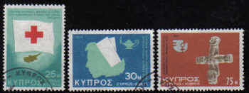 Cyprus Stamps SG 446-48 1975 Anniversaries and Events - USED (d252)