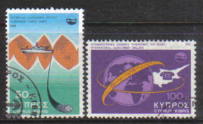 Cyprus Stamps SG 449-50 1975 Telecommunication achievements - USED (d650)