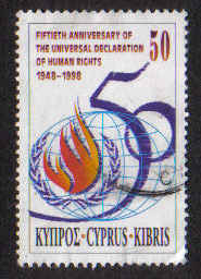 Cyprus Stamps SG 959 1998 Human Rights - USED (a868)