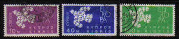 Cyprus Stamps SG 206-08 1962 Europa Doves - USED (b119)