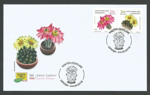 North Cyprus Stamps SG 2019 (f) Cactus Flowers - Official FDC