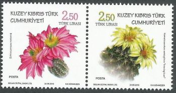 North Cyprus Stamps SG 2019 - Cactus Flowers