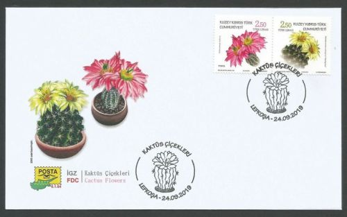North Cyprus Stamps SG 2019 - Cactus Flowers FDC