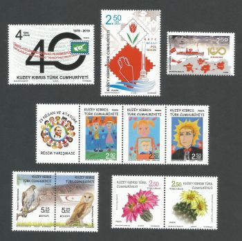 North Cyprus Stamps  2019 Complete Year Set - MINT