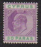 Cyprus Stamps SG 051 1903 30 Paras King Edward VII - MLH (d683)