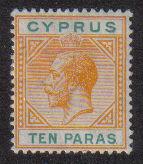 Cyprus Stamps SG 074b 1912 10 Paras King George V - MLH (d685)
