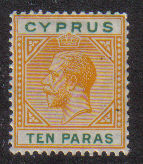 Cyprus Stamps SG 085 1921 10 Paras King George V - MLH (d693)