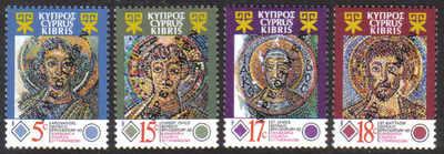 Cyprus Stamps SG 794-97 1991 Mosaics Kanakaria church - Specimen MINT (d725