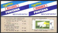 Cyprus Stamps Advertising booklet - Cyprina Viagrex Fontana MINT (d717)