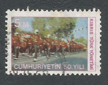 North Cyprus Stamps SG 002 1974 5m - USED (L022)