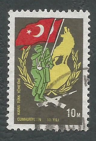 North Cyprus Stamps SG 003 1974 10m - USED (L023)