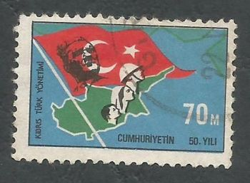 North Cyprus Stamps SG 007 1974 70m - USED (l024)