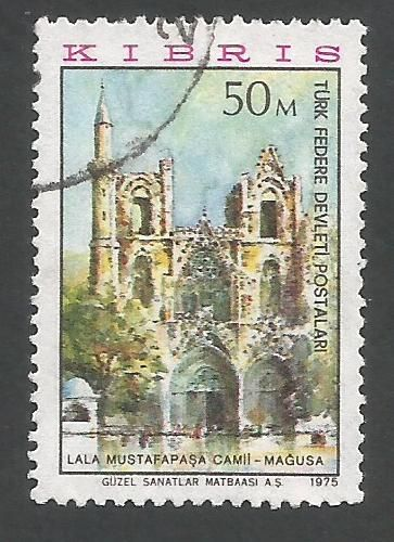 North Cyprus Stamps SG 016 1975 50m - USED (L029))