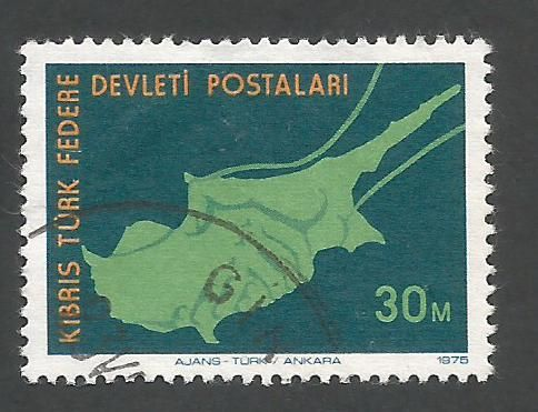 North Cyprus Stamps SG 020 1975 30m - USED (L030)