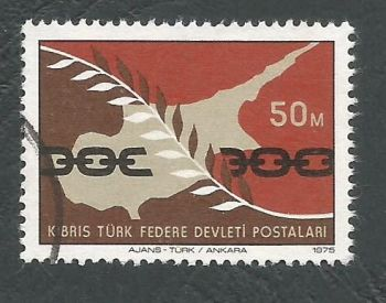 North Cyprus Stamps SG 021 1975 50m - USED (L033)