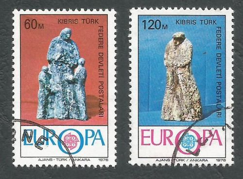 North Cyprus Stamps SG 027-28 1976 Europa - USED (L038)