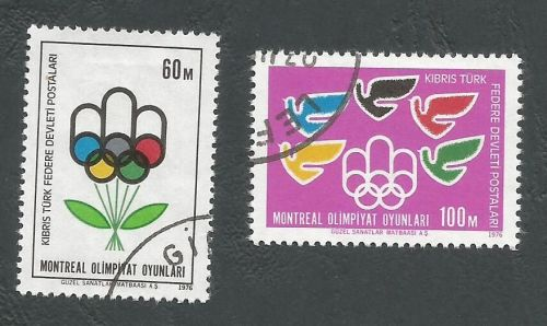 North Cyprus Stamps SG 034-35 1976 Montreal Olympic Games - USED (L041)
