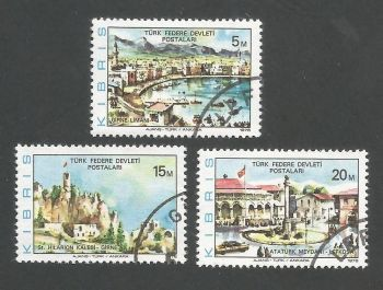 North Cyprus Stamps SG 036-38 1976 New design - USED (L042)