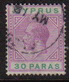Cyprus Stamps SG 087 1921 30 Paras - USED (d738)