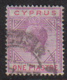 Cyprus Stamps SG 090 1922 One Piastre - USED (d741)