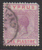 Cyprus Stamps SG 090 1922 One Piastre - USED (d742)