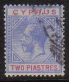 Cyprus Stamps SG 092 1921 Two Piastres - USED (d746)