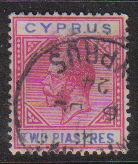 Cyprus Stamps SG 093 1922 2 Piastres - USED (d748)