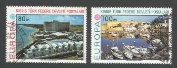 North Cyprus Stamps SG 049-50 1977 Europa - USED (L045)