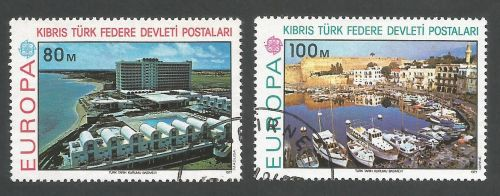 North Cyprus Stamps SG 049-50 1977 Europa - USED (L046)