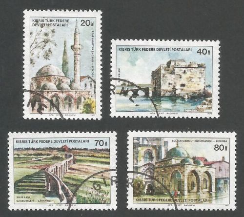 North Cyprus Stamps SG 054-57 1977 Buildings - USED (L048)