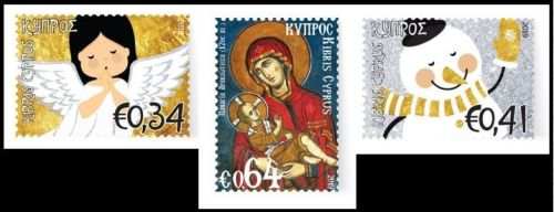 Cyprus Stamps Christmas 2019 set of 3 stamps example