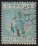 Cyprus Stamps SG 011 1881 Half Piastre - USED (d773)