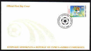 Cyprus Stamps SG 938 1998 World Cup France - Official FDC