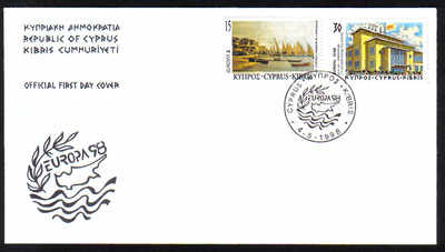 Cyprus Stamps SG 939-40 1998 Europa Festivals - Official FDC