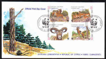 Cyprus Stamps SG 941-44 1998 WWF Mouflon - Official FDC