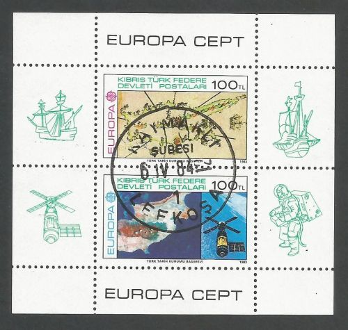 North Cyprus Stamps SG 134 MS 1983 Europa - USED (L119)