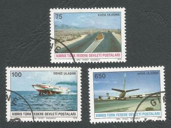 North Cyprus Stamps SG 065-67 1978 Communications - USED (L052)