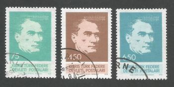 North Cyprus Stamps SG 071-73 1978 Kemal Ataturk - USED (L055)