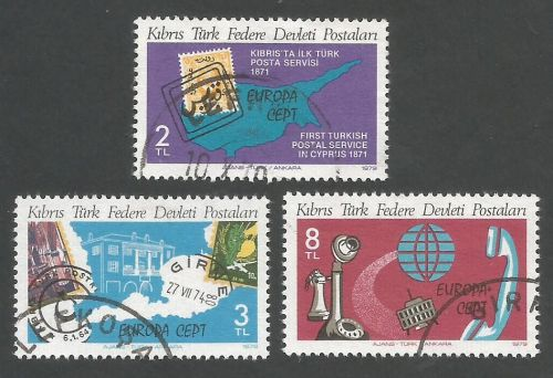 North Cyprus Stamps SG 079-81 1979 Europa - USED (L057)