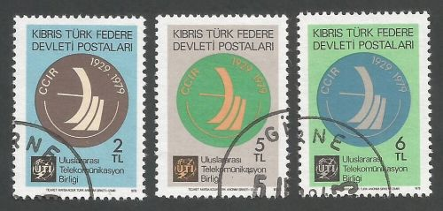 North Cyprus Stamps SG 082-84 1979 Radio - USED (L058)
