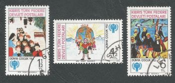 North Cyprus Stamps SG 085-87 1979 International year of the child - USED (L059)