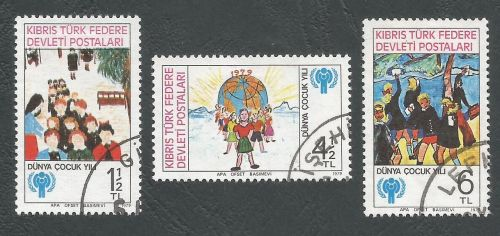 North Cyprus Stamps SG 085-87 1979 International year of the child - USED (