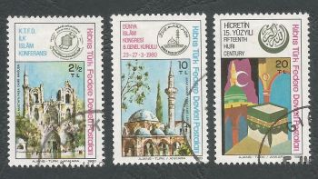 North Cyprus Stamps SG 088-90 1980 Islamic Commemorations - USED (L060)