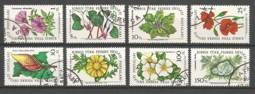 North Cyprus Stamps SG 109-16 1981 Flowers - USED (L069)