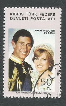 North Cyprus Stamps SG 121 1981 Royal wedding - USED (L076)
