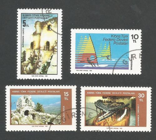 North Cyprus Stamps SG 123-26 1982 Tourism - USED (L079)