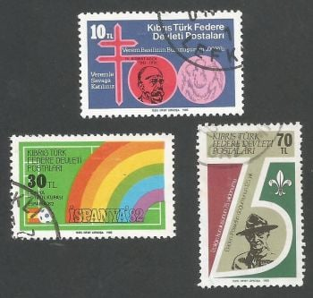 North Cyprus Stamps SG 129-31 1982 Anniversaries and Events - USED (L082)